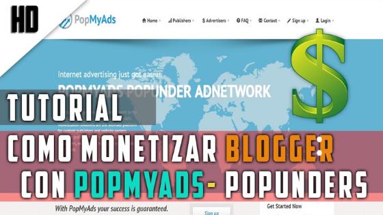 Monetizar pagina web con Popmyads