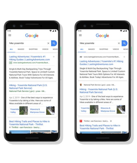 Nuevo diseño del buscador de Google