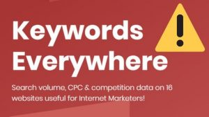 Keywords Everywhere no funciona